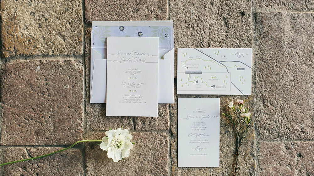 letterpress invites for Bologna Wedding