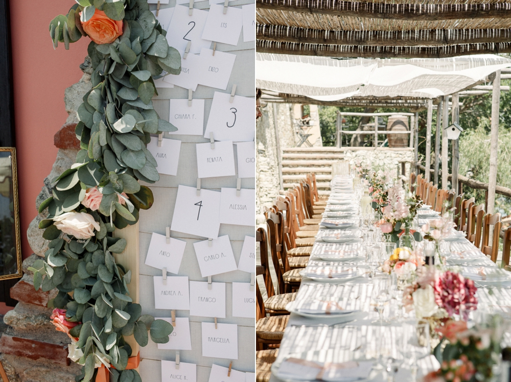 same sex italy wedding decor