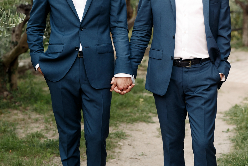 same sex italy wedding portrait