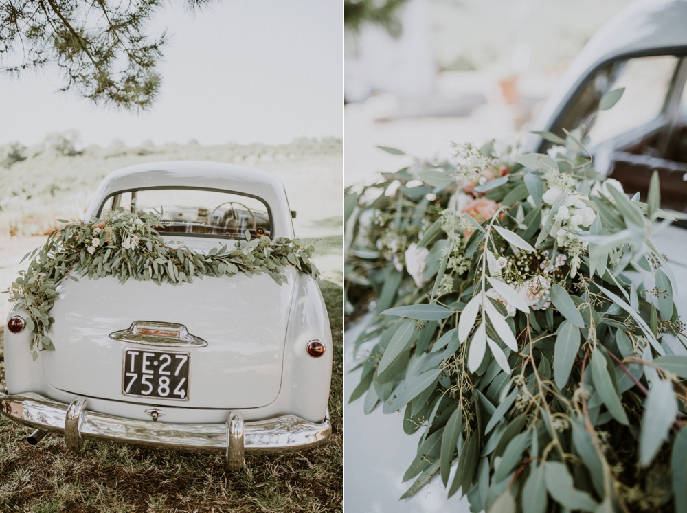 vintage car - buddhist wedding in italy