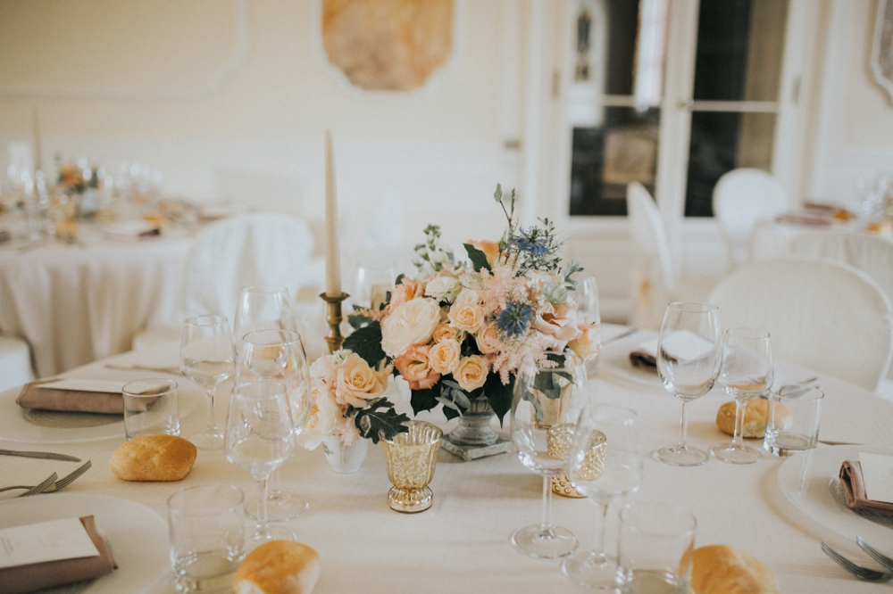 Veneto Villa Wedding - table setting