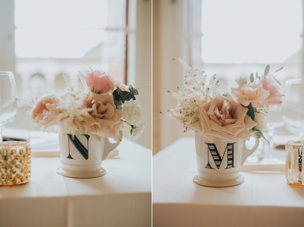 Veneto Villa Wedding - anthropologie mugs with flowers