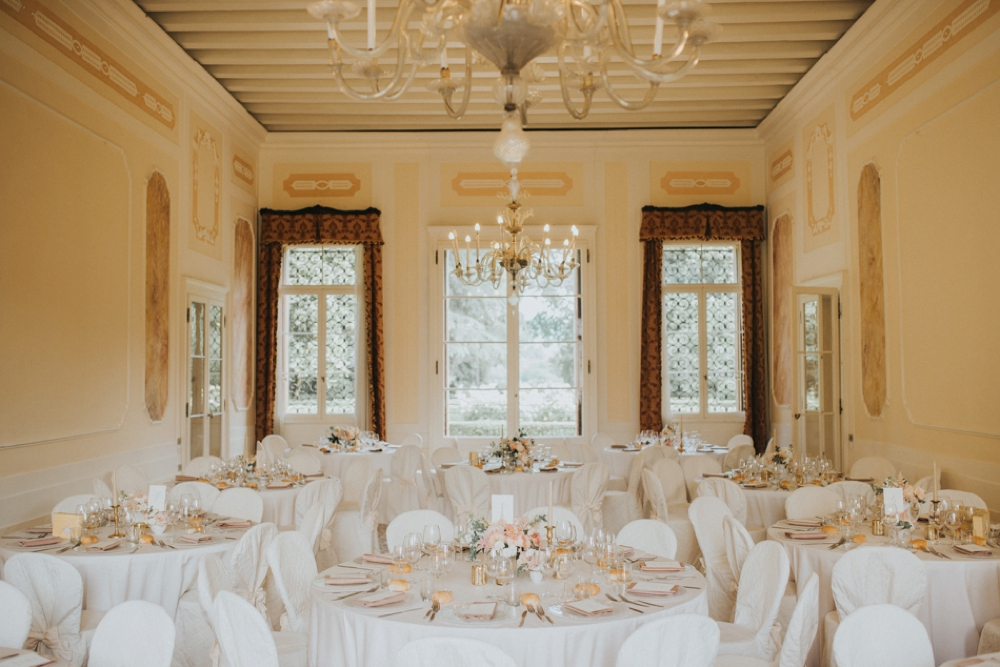 Veneto Villa Wedding - dinner room