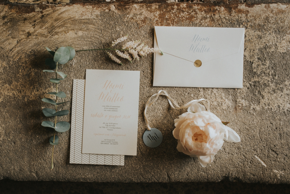 Veneto Villa Wedding - stationery