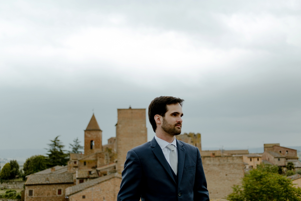 Groom - Romantic Elopement in Tuscany - Laura Bravi Events