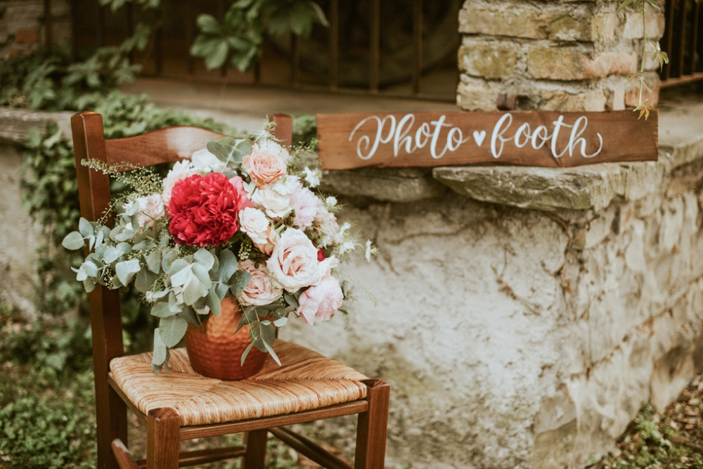 Rustic Foodie Italy Wedding -photobooth- Laura Bravi Events