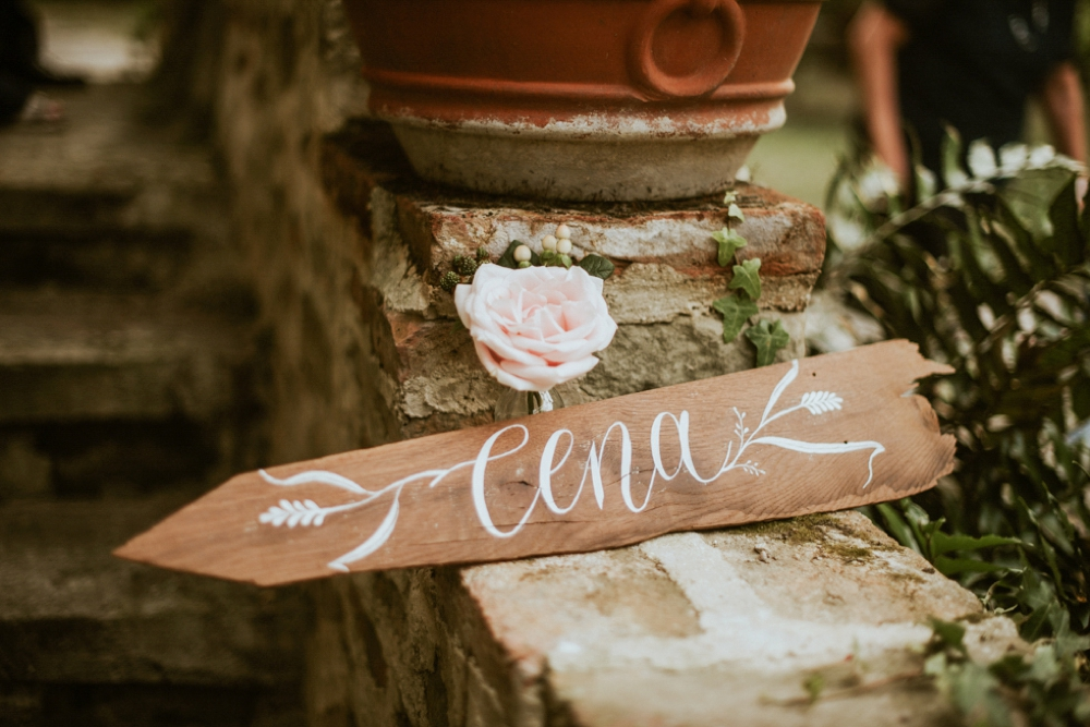Rustic Foodie Italy Wedding -signage- Laura Bravi Events