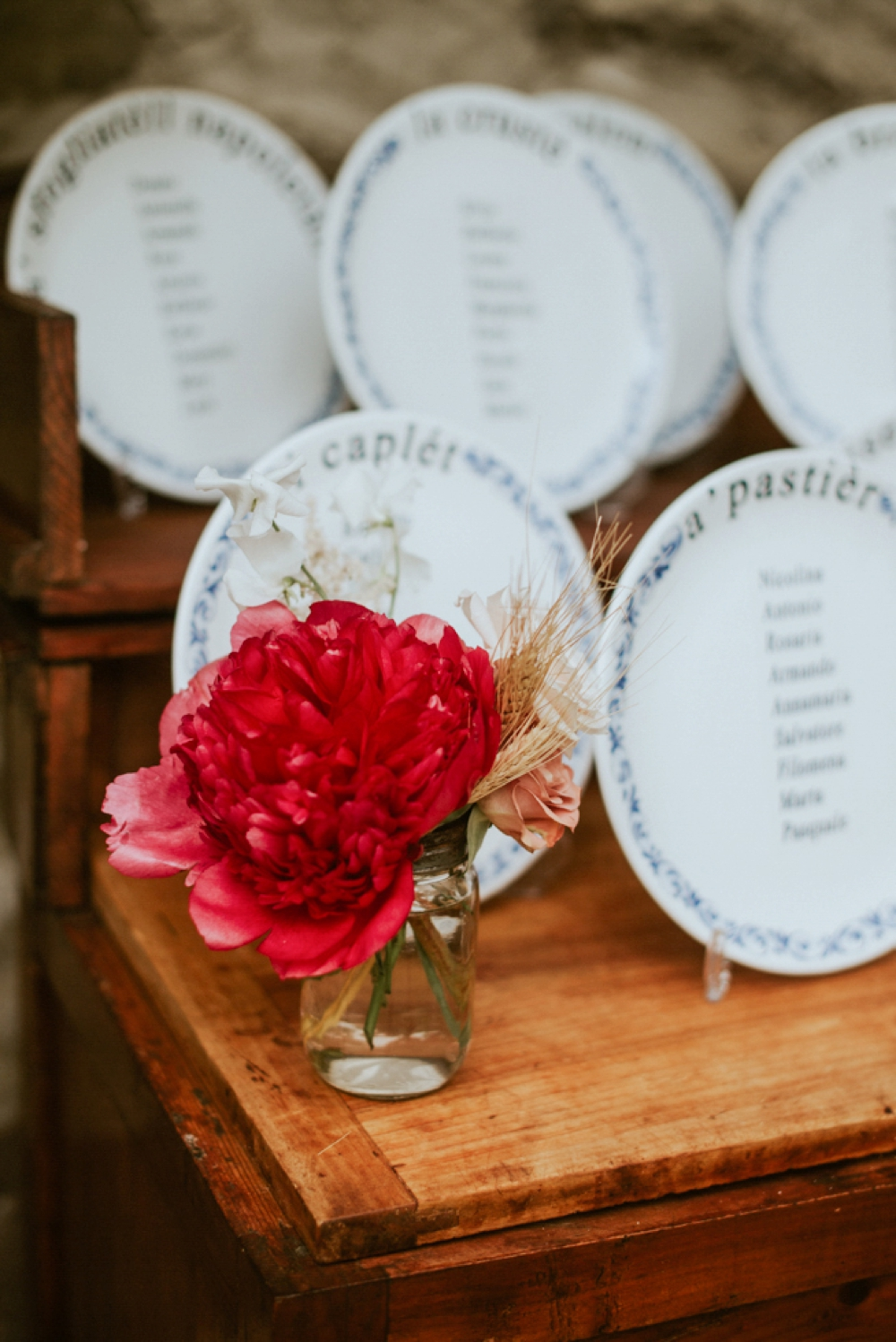 Rustic Foodie Italy Wedding -seating chart- Laura Bravi Events