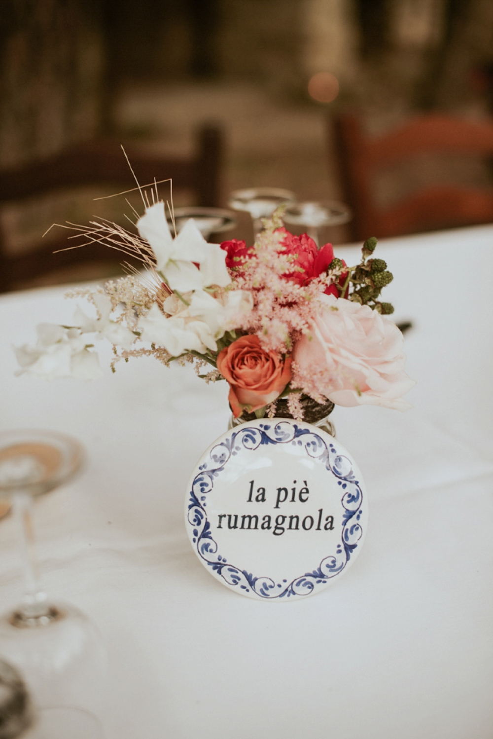 Rustic Foodie Italy Wedding -table setting- Laura Bravi Events