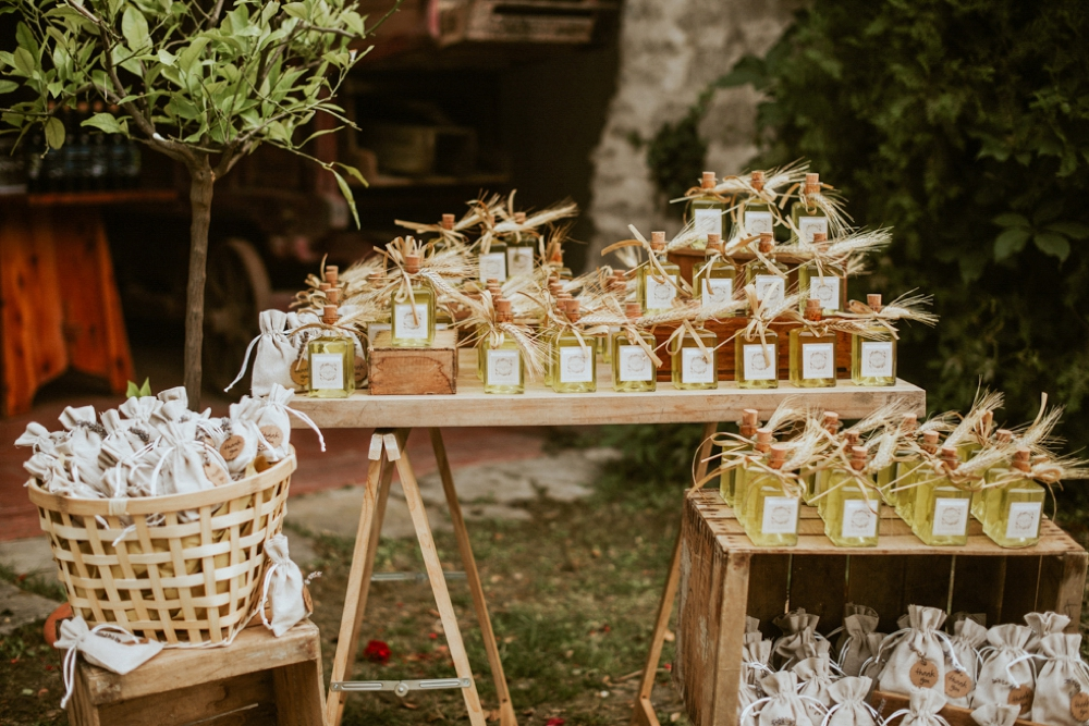 Rustic Foodie Italy Wedding -limoncello favors- Laura Bravi Events