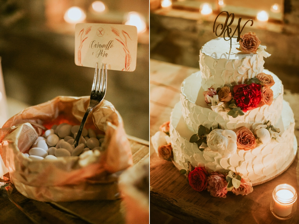 Rustic Foodie Italy Wedding - Wedding cake - Laura Bravi Events