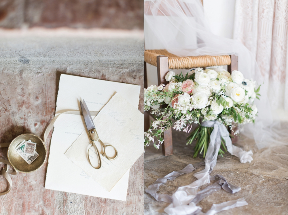 Tuscany intimate elopement invitation