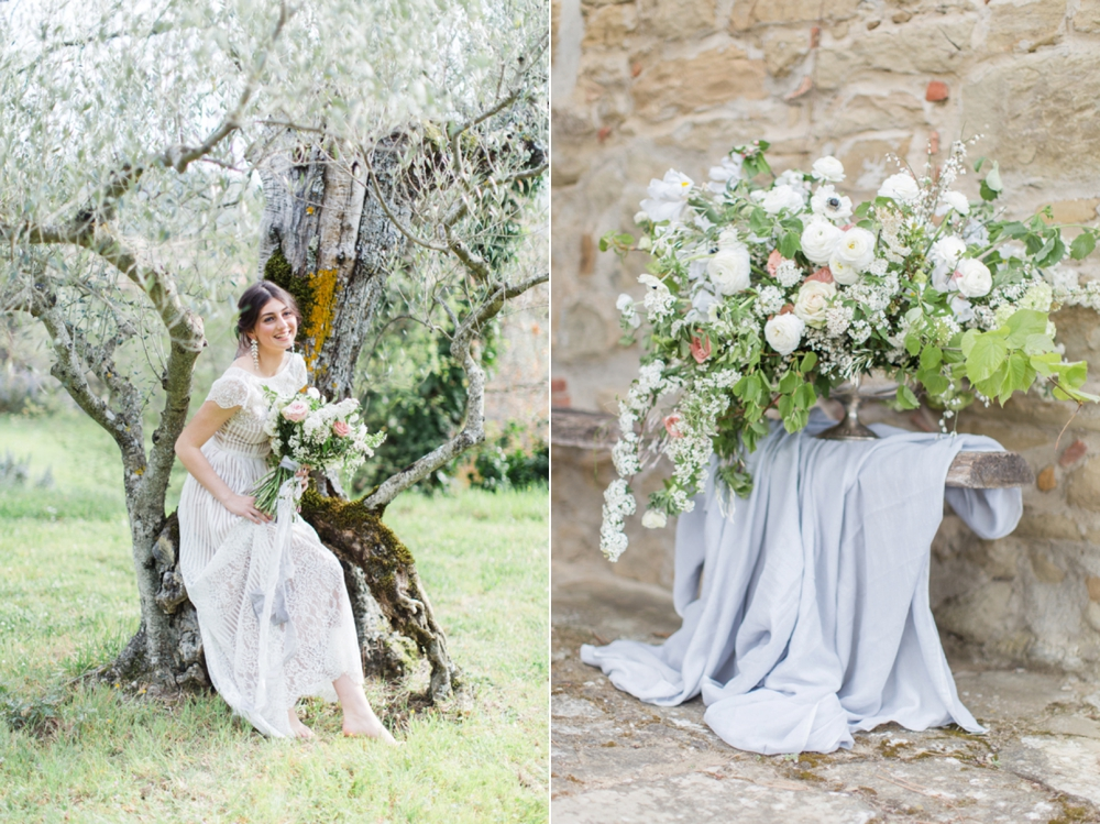 Tuscany intimate elopement stylist