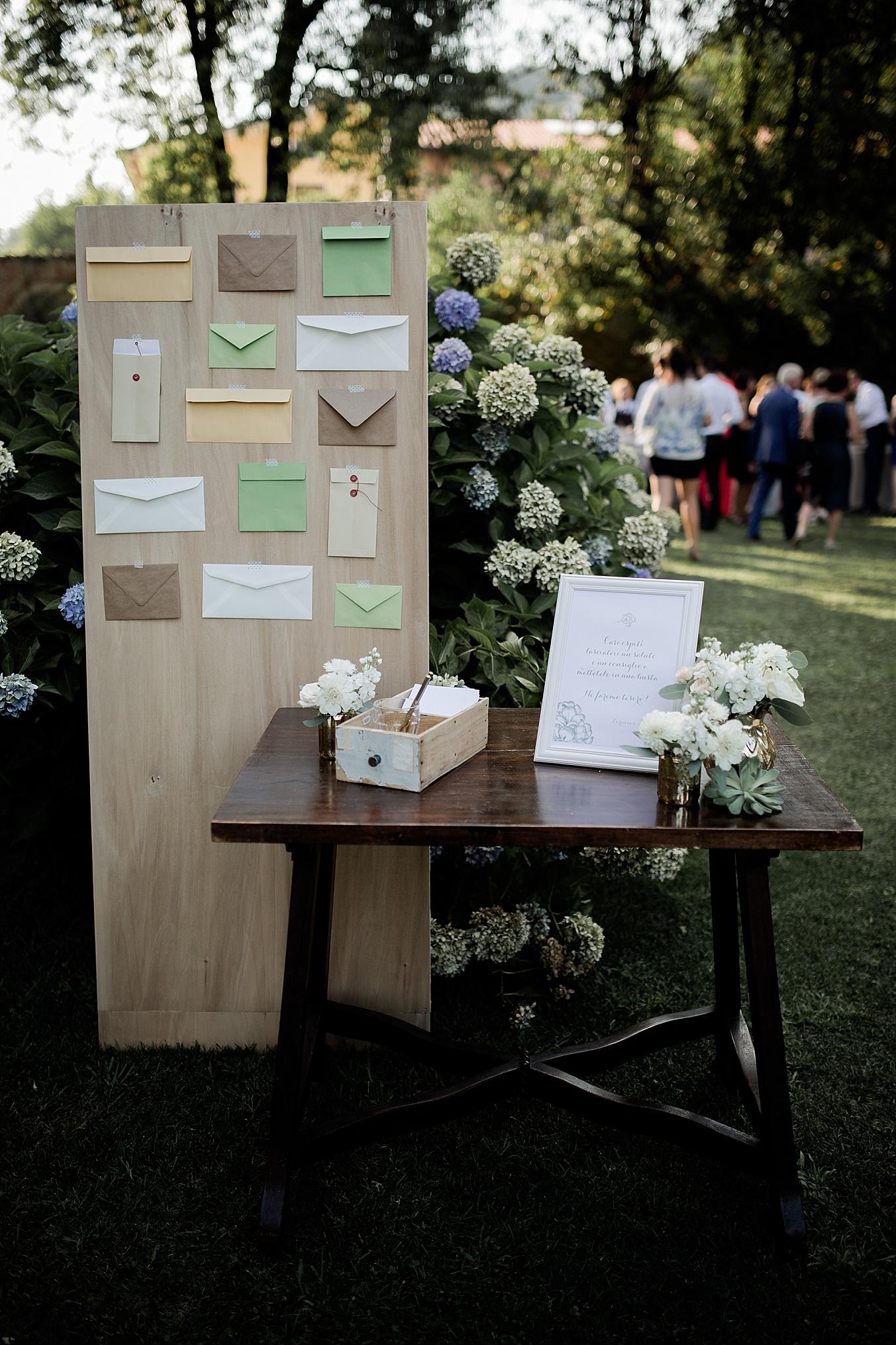 chic elegant wedding Italy guestbook