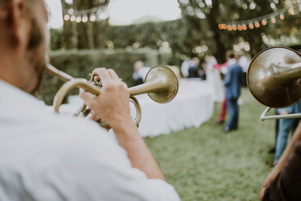 big band - buddhist wedding in Italy
