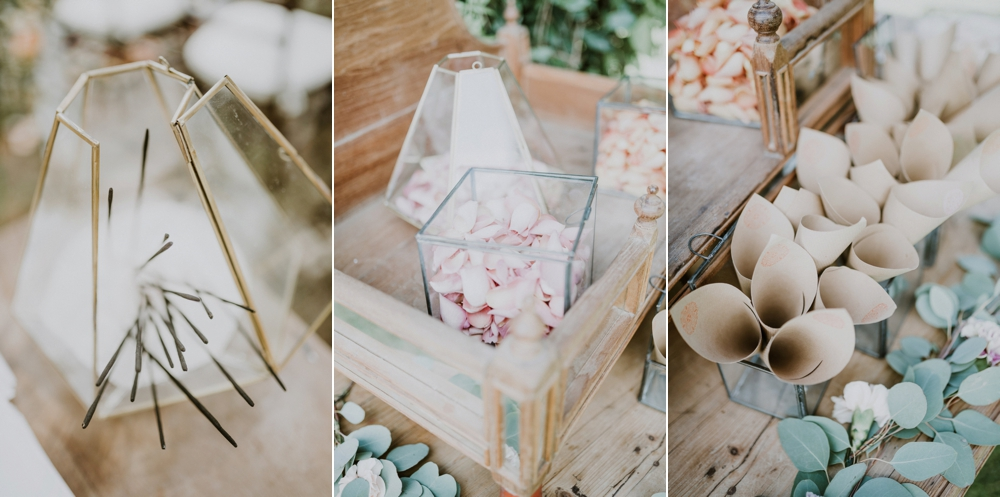 petal toss and incense - buddhist wedding in italy