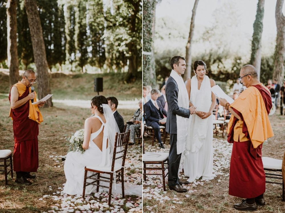 ceremony - buddhist wedding in italy