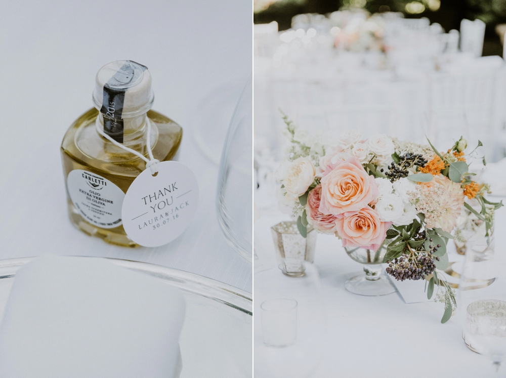 place setting and decor - buddhist wedding in italy