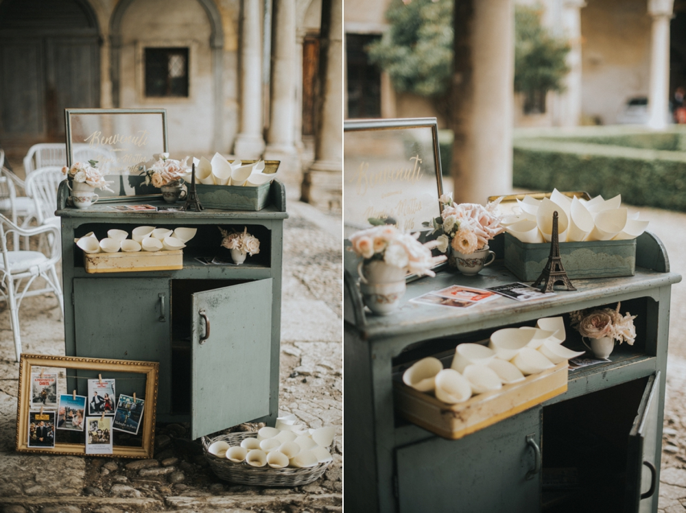 Veneto Villa Wedding - welcome station