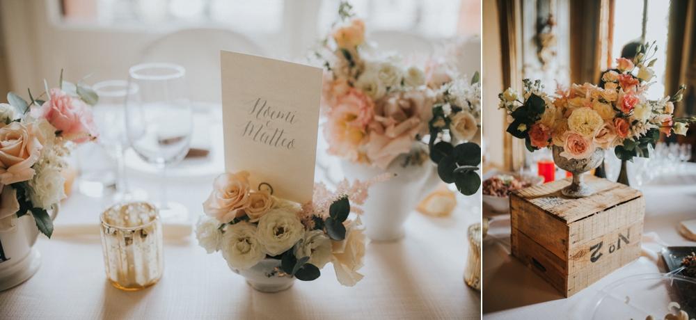 Veneto Villa Wedding - table setting