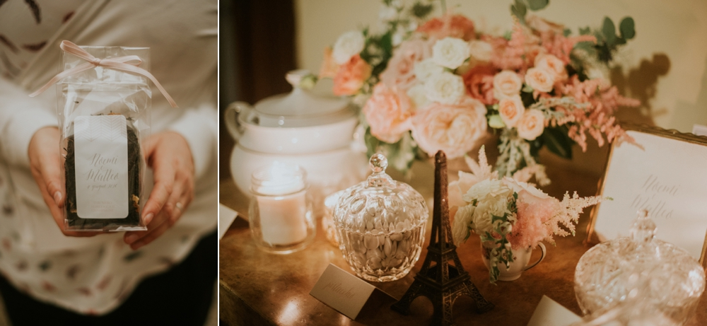 Veneto Villa Wedding - tea favors and confetti