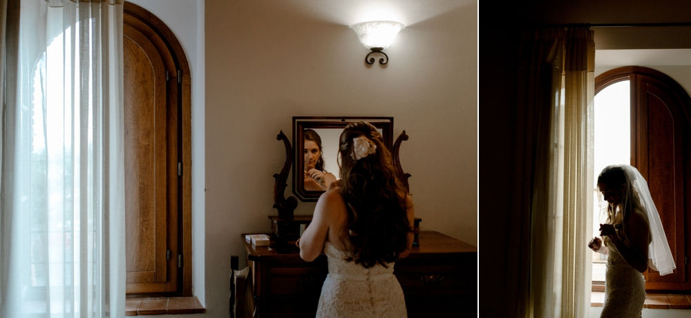 Bride getting ready - Romantic Elopement in Tuscany - Laura Bravi Events
