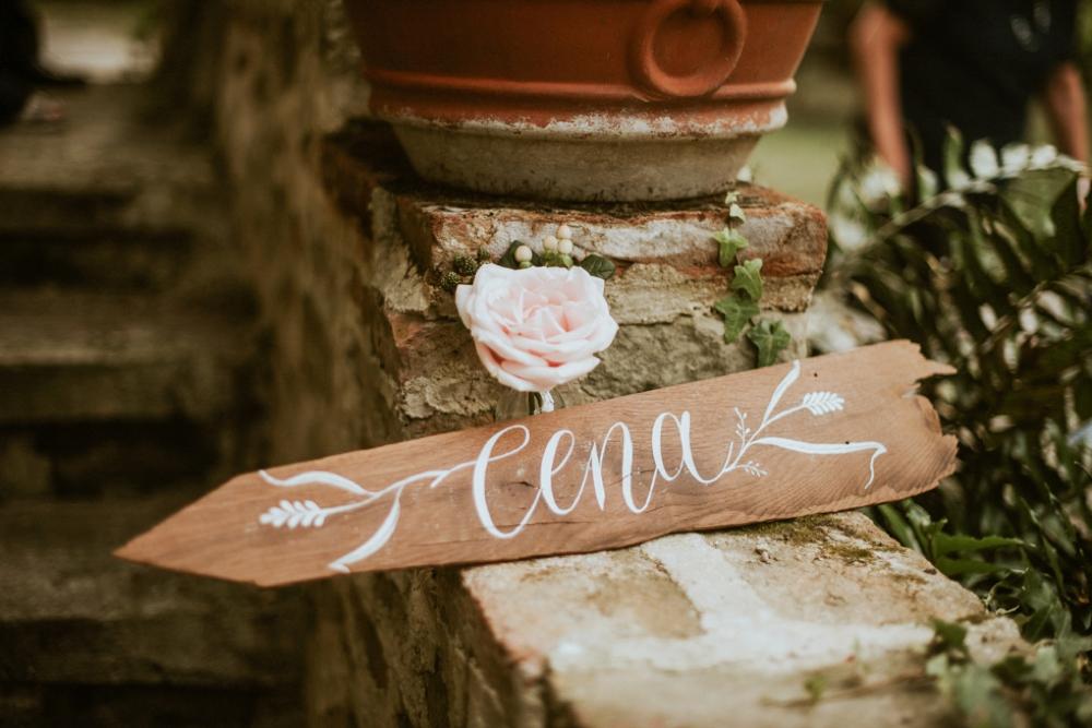 Rustic Foodie Italy Wedding -signage- Laura Bravi Events