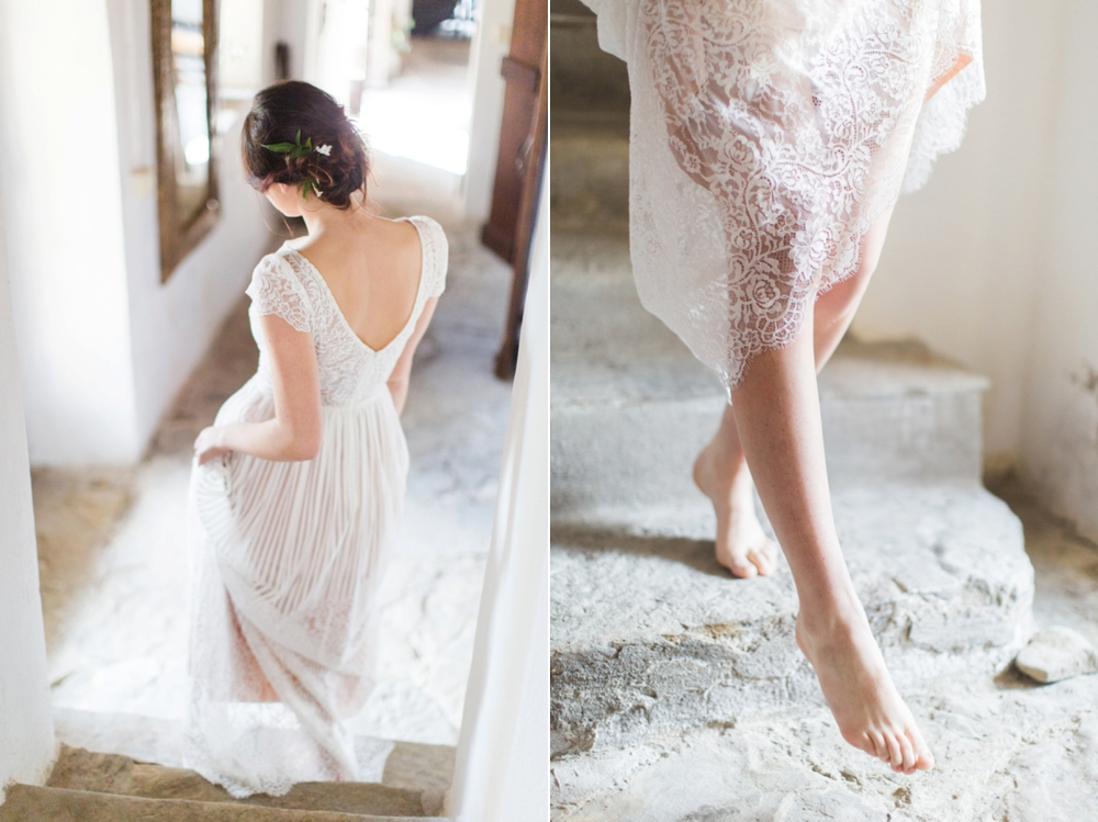 Tuscany intimate elopement bride