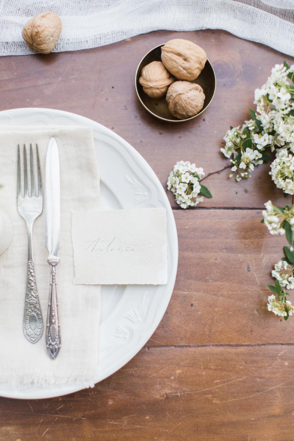Tuscany intimate elopement styling