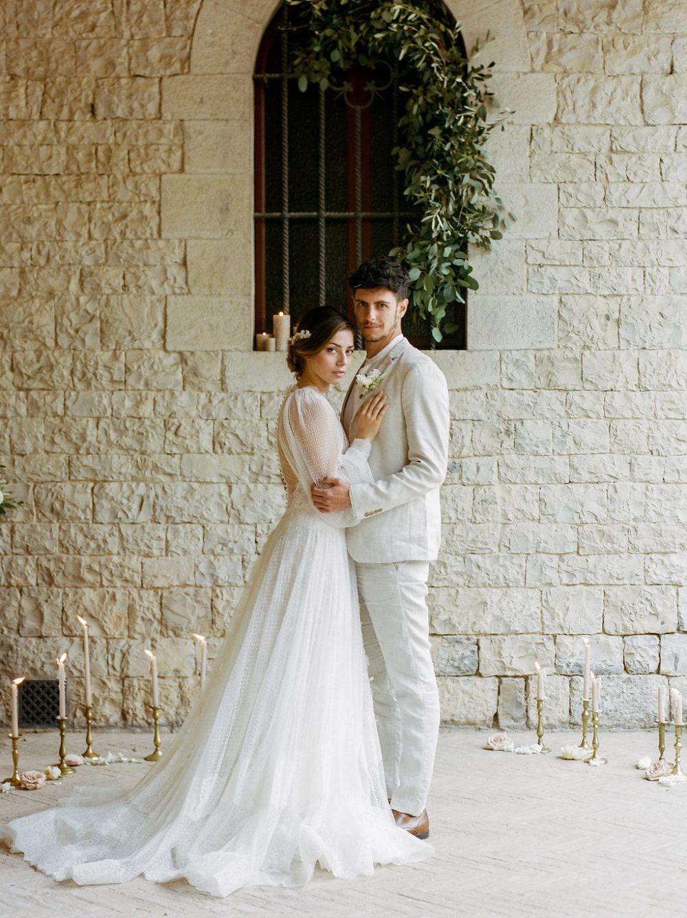 bride and groom Tuscany ceremony
