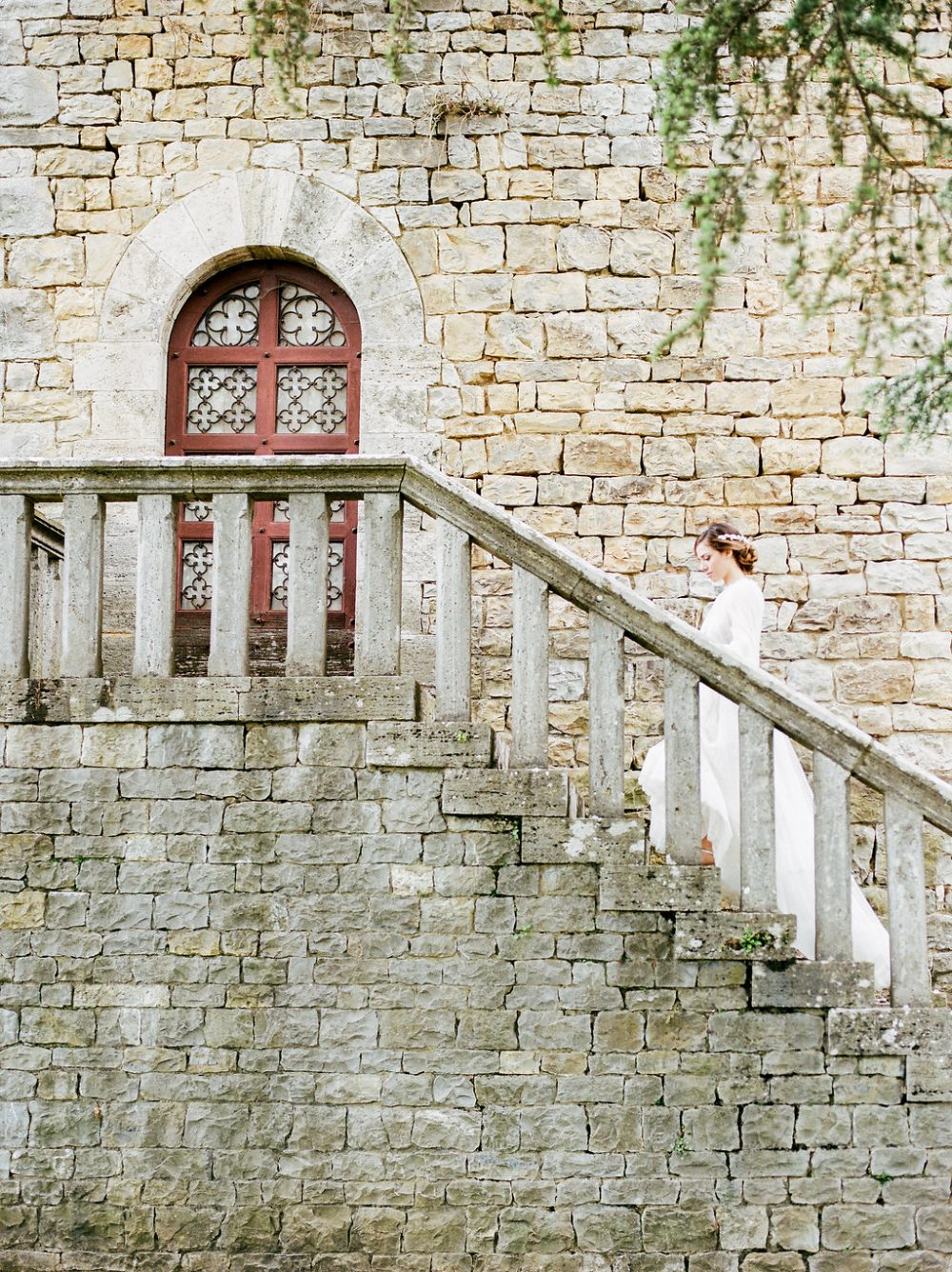 badia berardenga staircase