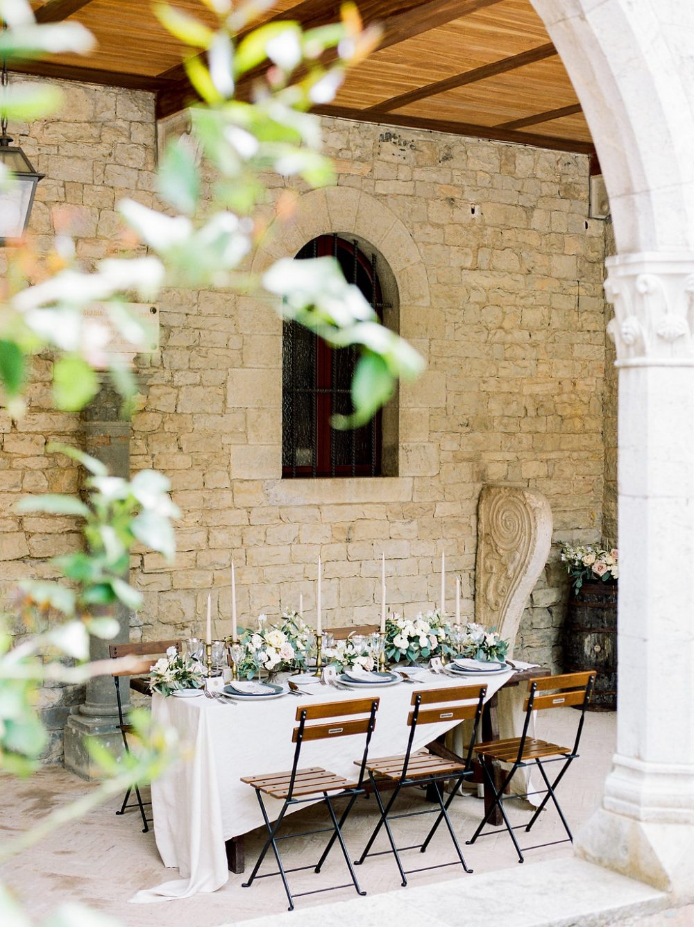fine art tablescape tuscany