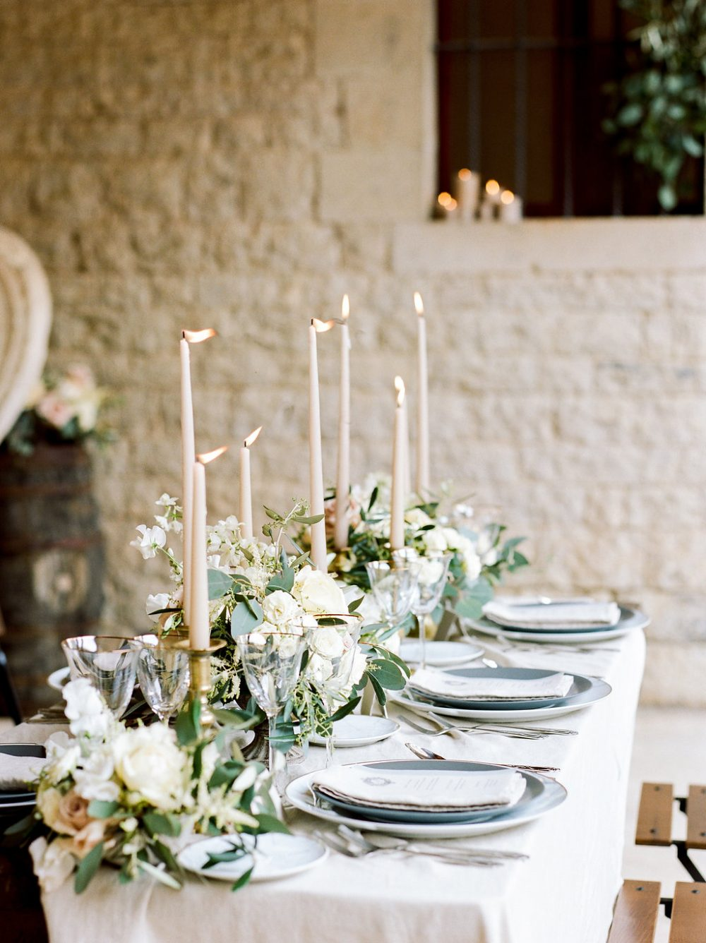 fine art tablescape Italy