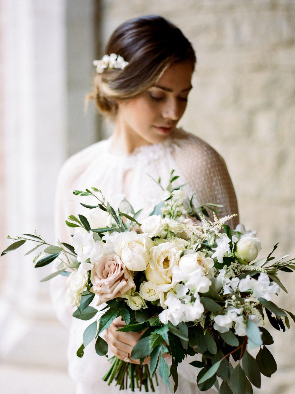 fine art bridal portrait Tuscany