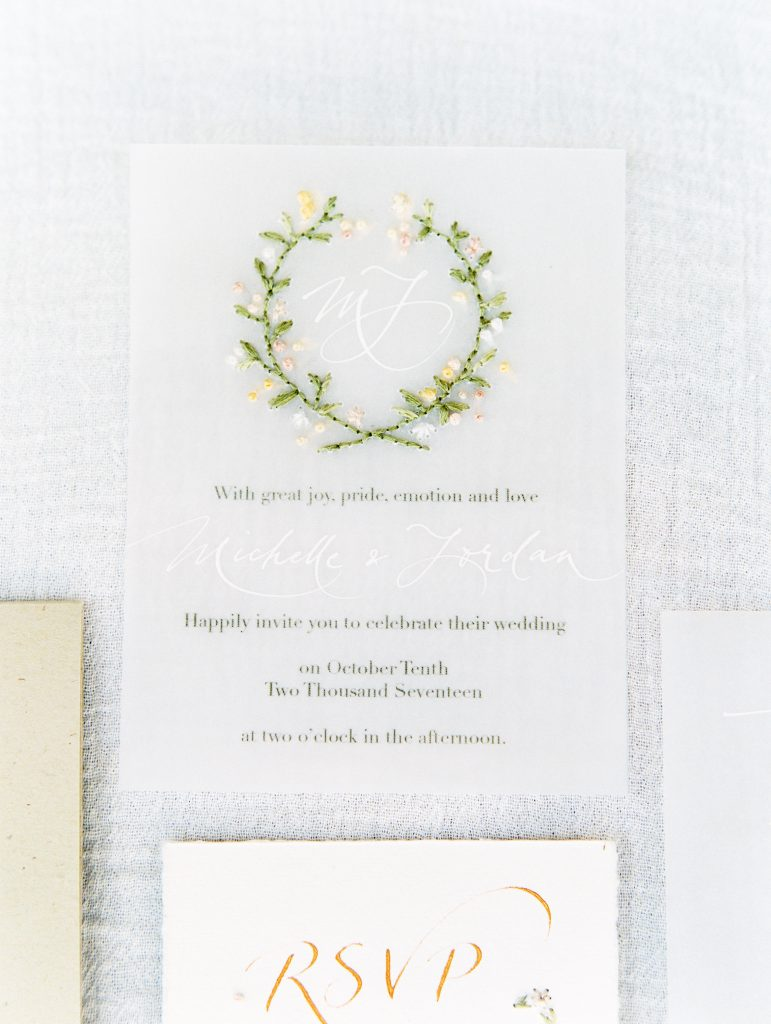 hand sewn wedding invitations