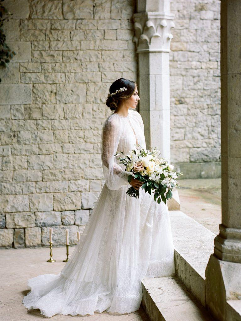 Bride fine art portrait in Tuscany