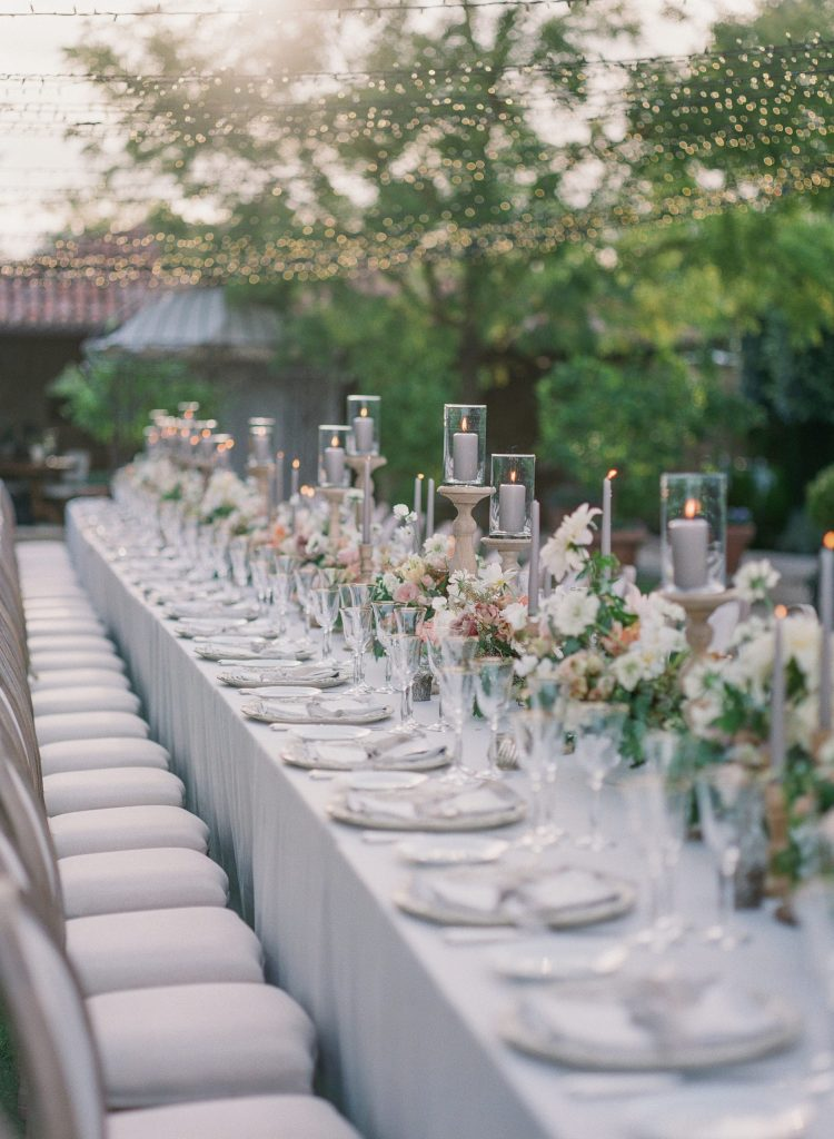 Fine art table setting at Borgo Santo Pietro Destination Wedding in Tuscany by Corbin Gurkin Photography, Laura Bravi Events, La Rosa Canina Firenze